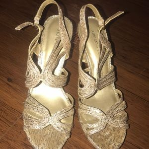 Adrianna Papell Boutique gold high heels
